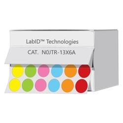 Farbige Kryo-Etiketten Ø13mmInSpenderbox **Farben - Mix **