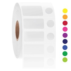 NitroID™ - Криогенные штрих-код этикетки 25,4 х 13 + Ø 9,5мм