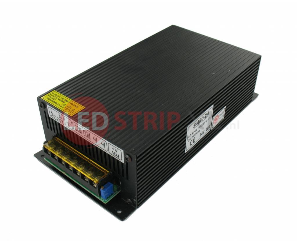24 volt ledstrip voedingsadapter 20 ampere 500w ledstripxl. Black Bedroom Furniture Sets. Home Design Ideas