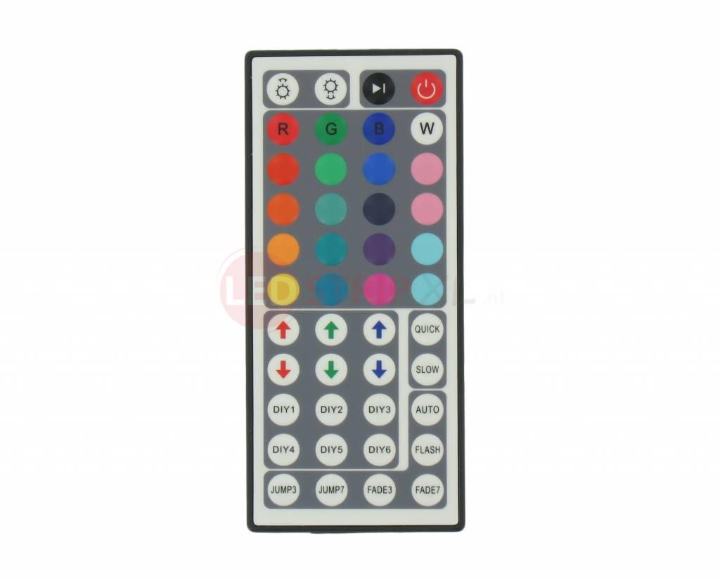 RGB ledstrip IR controller met afstandsbediening  LEDStripXL