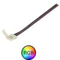RGB ledstrip Koppelstuk naar 4-aderig RGB signaal kabel
