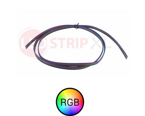 RGB 4 aderig Stroomdraad voor RGB LED strips