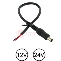 LED DC Male Socket voor 12 Volt en 24 Volt Strips