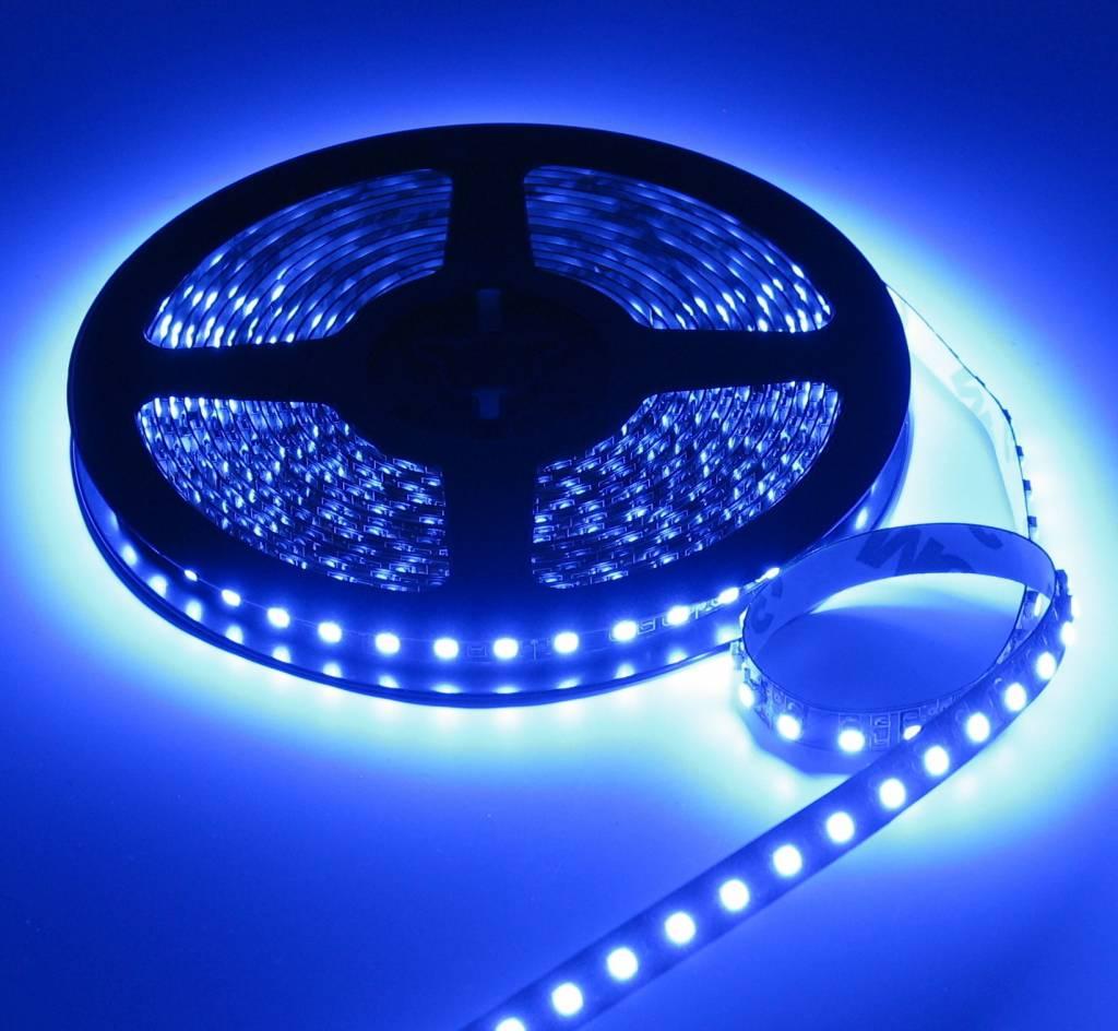led strip blauw 5 meter 120 led per meter 12v ledstripxl. Black Bedroom Furniture Sets. Home Design Ideas