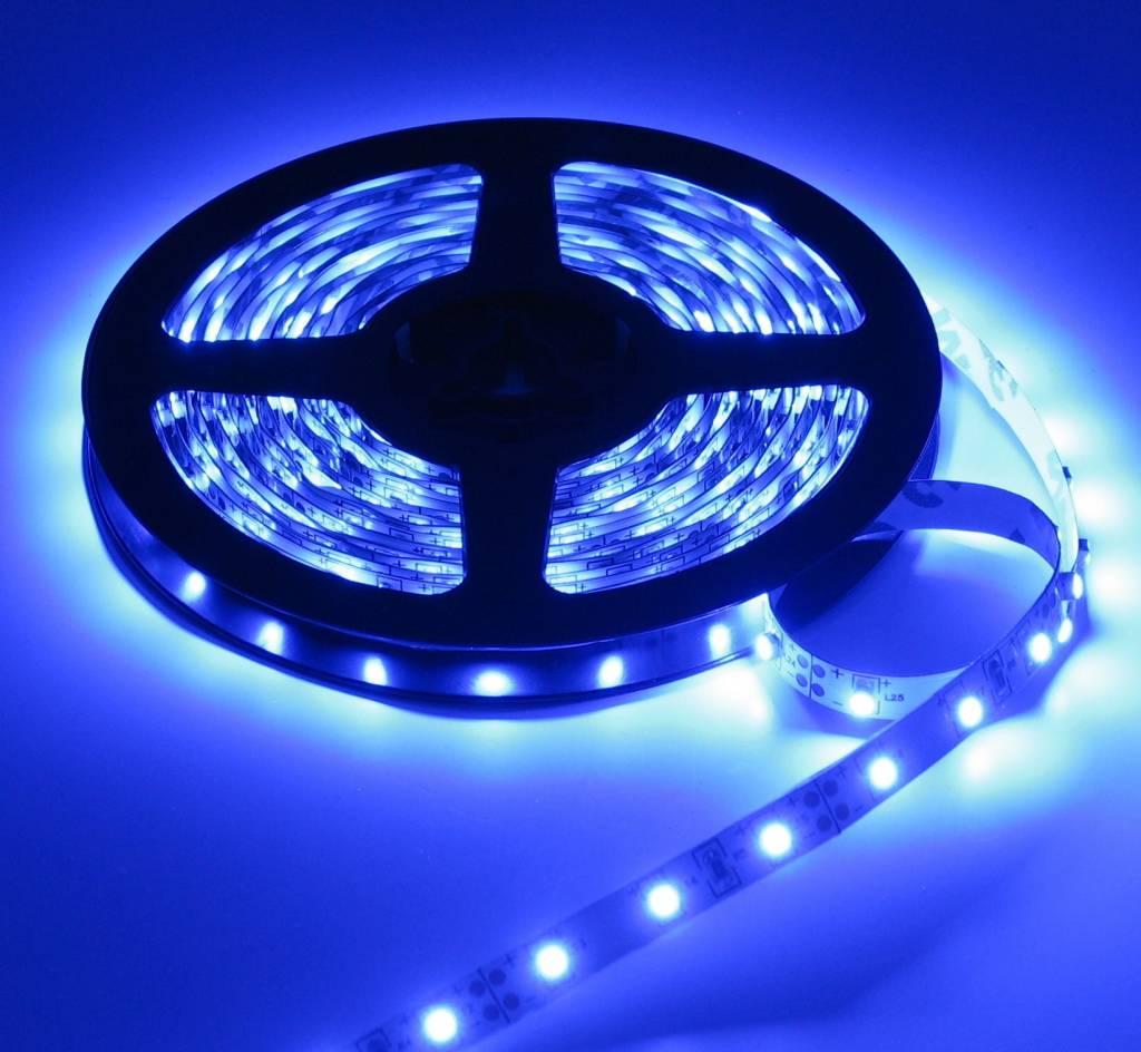 led strip blauw 1 meter 60 led per meter 12v ledstripxl. Black Bedroom Furniture Sets. Home Design Ideas