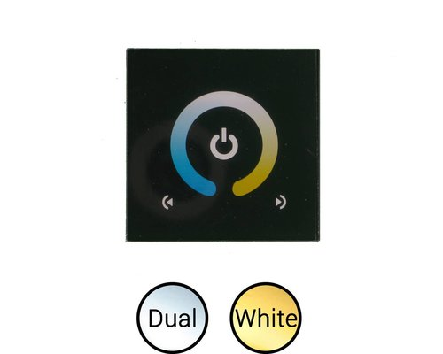 Inbouw touch controller voor Dual White ledstrips 12-24V