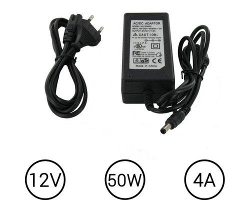 LEDStrip Voedingsadapter 12 Volt 4 Ampere Transformator