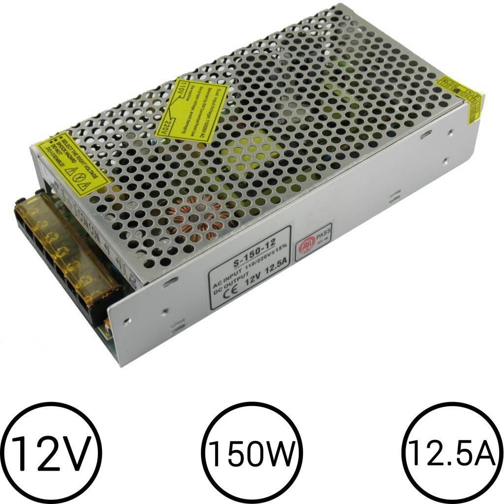 LED Voeding 12V 12.5 Ampère 150W