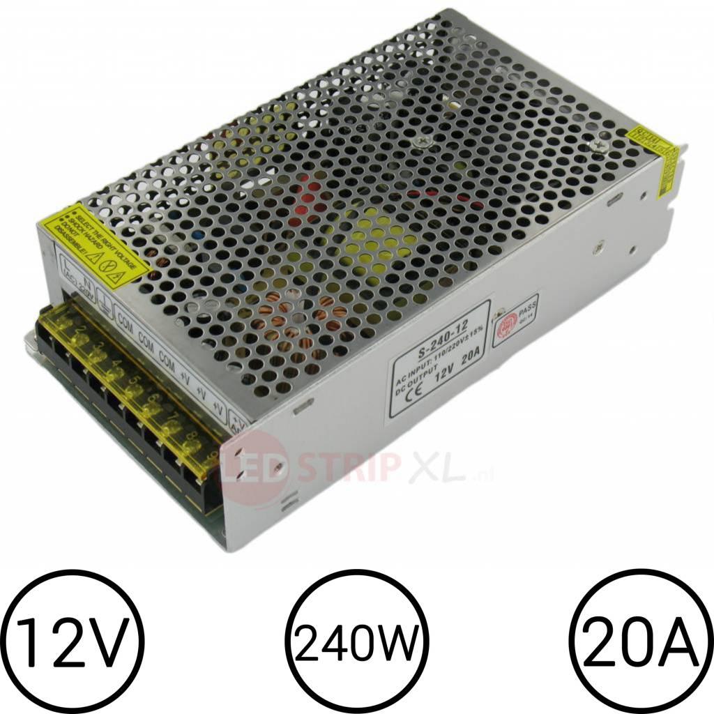 LED Voeding 12V 20 Ampère 240W