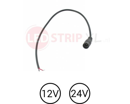LED DC Female Socket voor 12 Volt en 24 Volt Strips