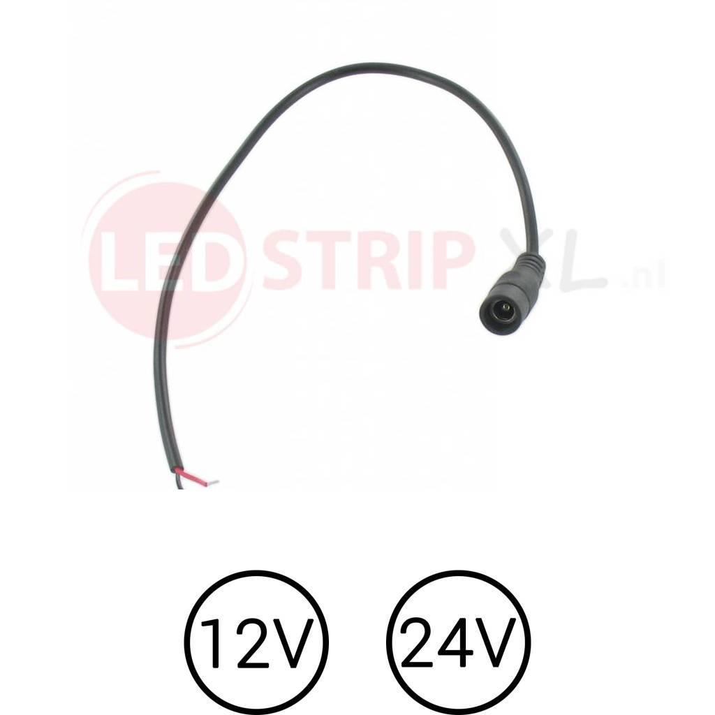 led dc female socket voor 12v en 24v ledstrips