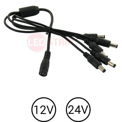 LEDstrip voeding splitter 1 -> 5