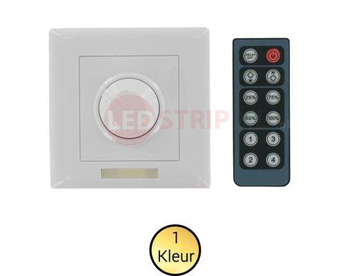 Ledstrip muur dimmer met IR afstandsbediening | LEDStripXL