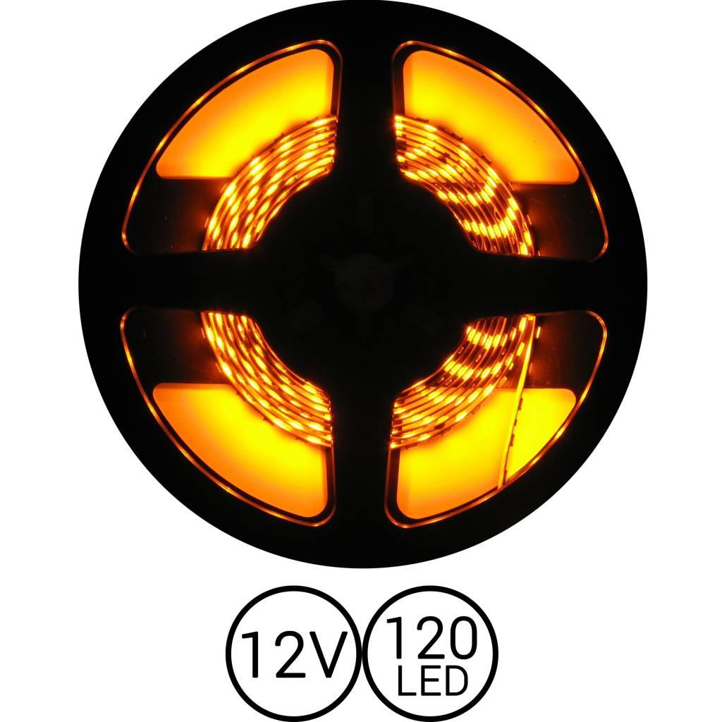 PowerLED Geel 0,5 t/m 2,5 Meter 120LED 12 Volt
