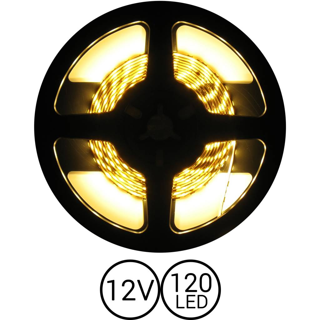 PowerLED Warm Wit 0,5 t/m 2,5 Meter 120 LED 12 Volt