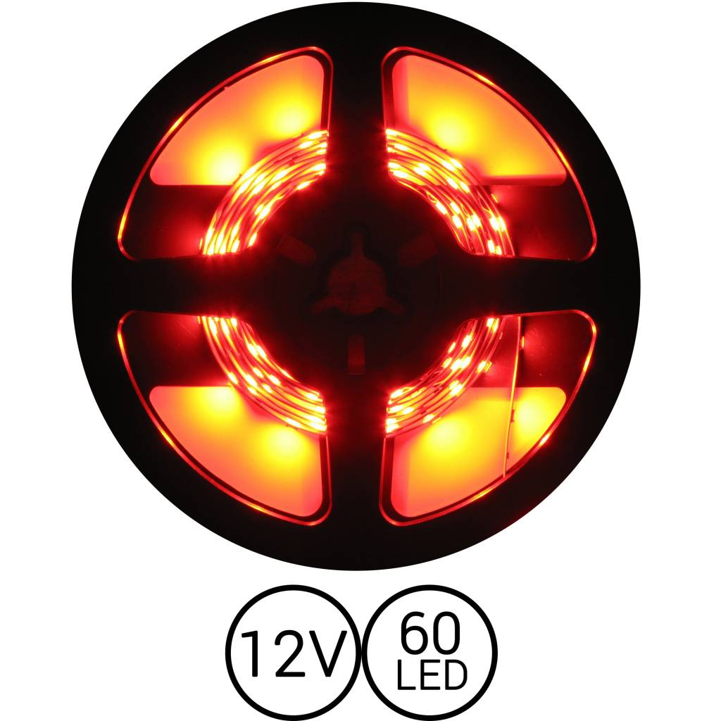 PowerLED Rood 0,5 t/m 2,5 Meter 60LED 12 Volt