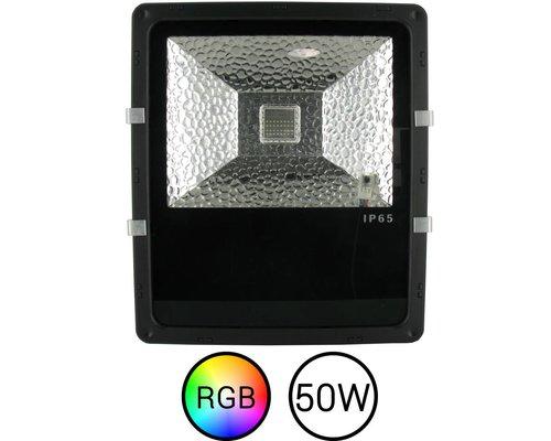 LED Bouwlamp RGB 50 Watt met Afstandsbediening