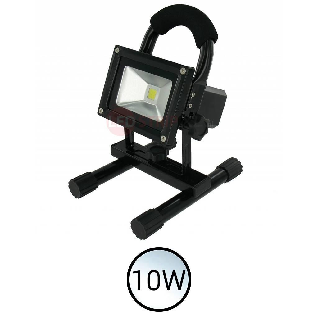 LED Bouwlamp Wit 10W oplaadbaar en dimbaar