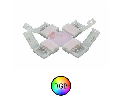 RGB LEDStrip klik koppelstuk kruispunt '+' soldeervrij