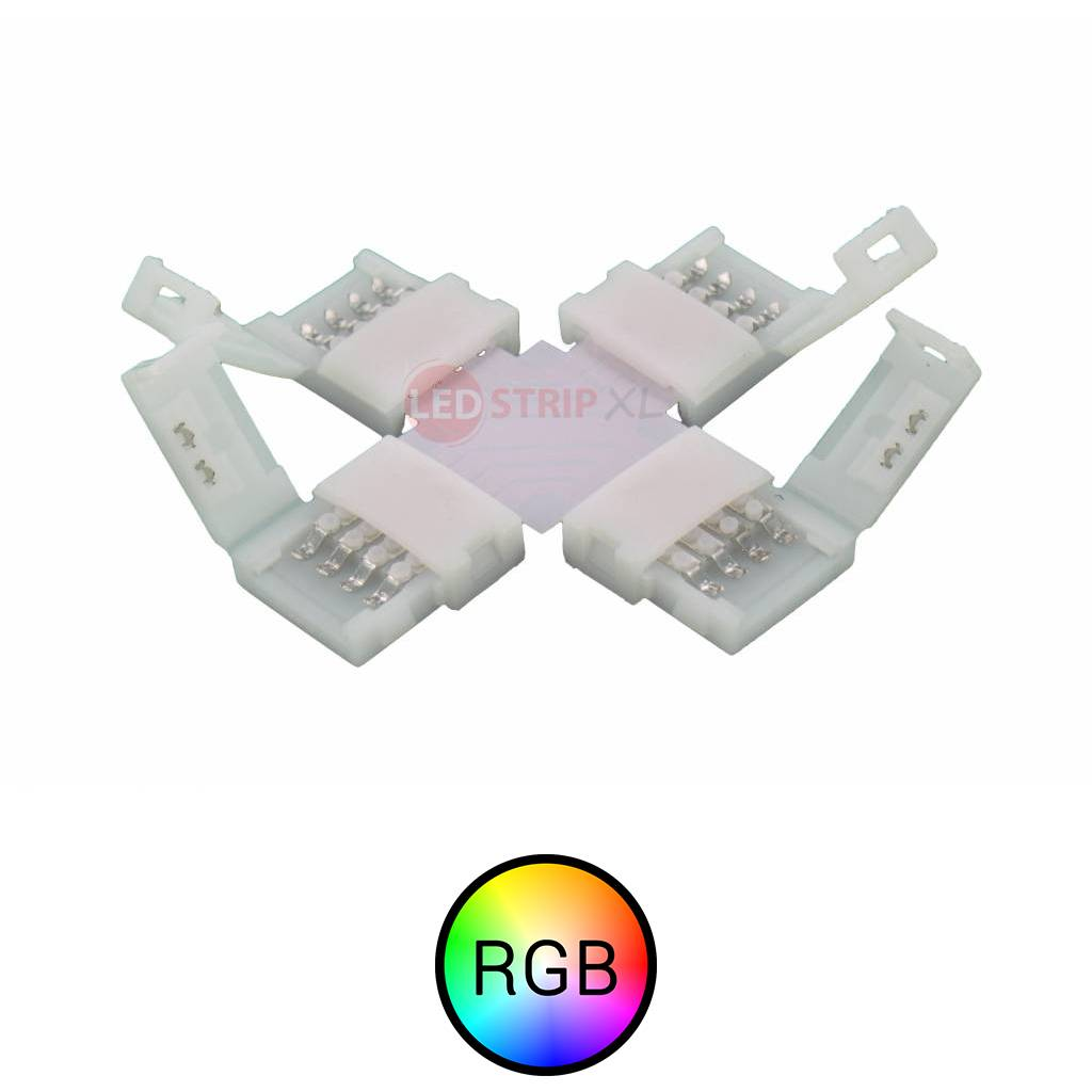 RGB LEDStrip klik koppelstuk kruispunt