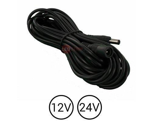 LEDStrip Verlengkabel 5 meter DC voedings adapter kabel