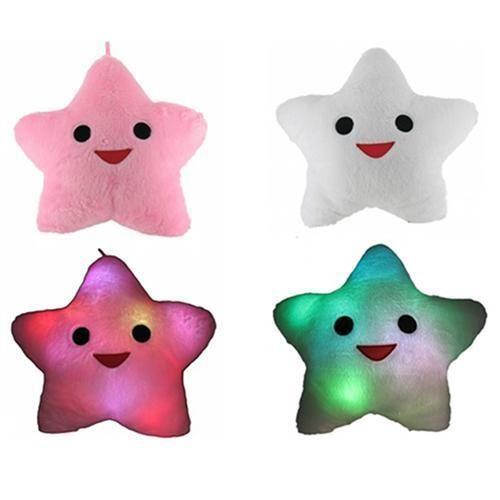 LED Kussen Happy Star 40x35cm