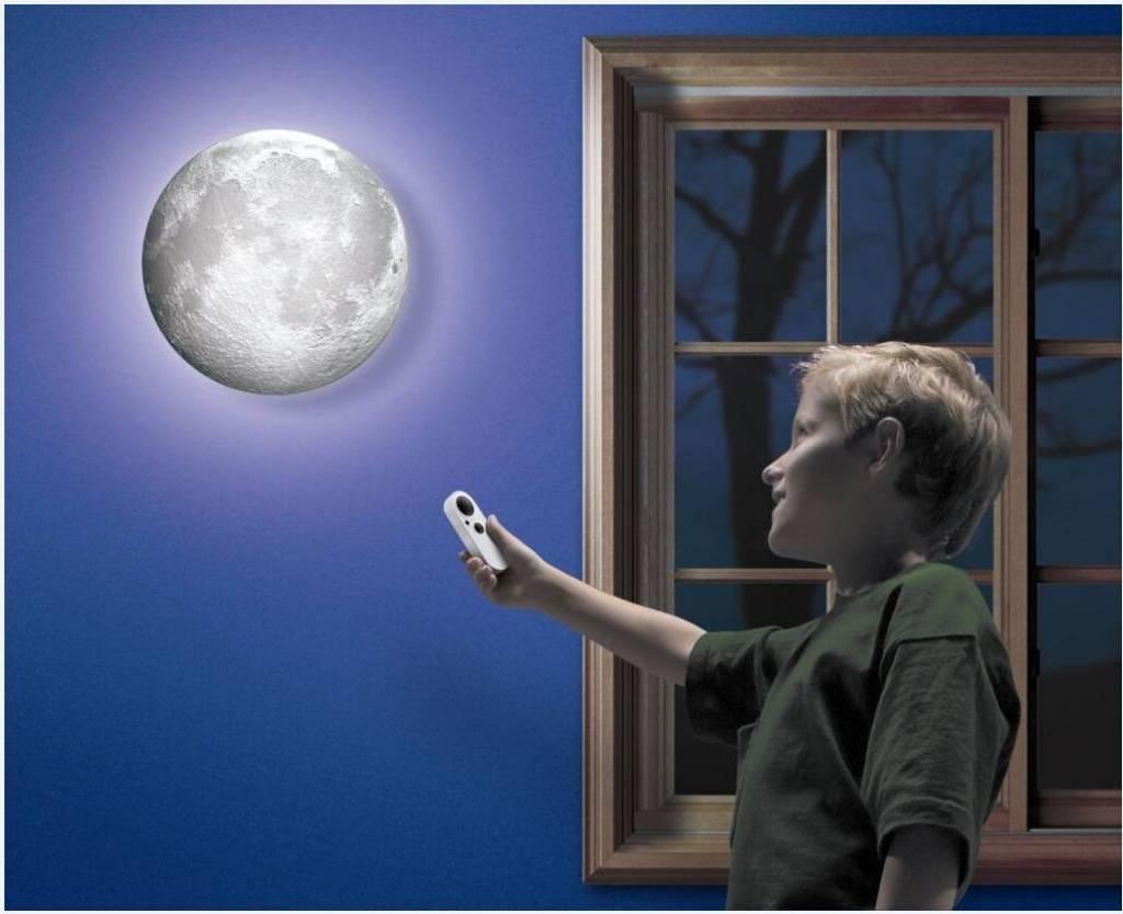moon in my room led nachtlampe mondlampe lampe mit mond wandlampe kinderlampe ebay. Black Bedroom Furniture Sets. Home Design Ideas