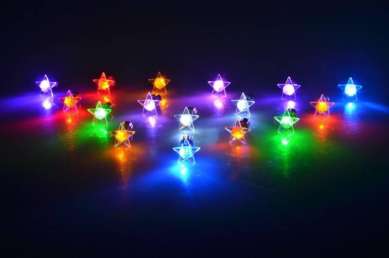 LED Oorbellen met Ster