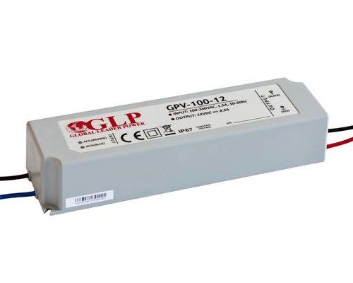 GLP Waterdichte LEDStrip 12 Volt 8.3 Ampère Transformator