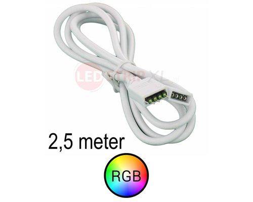 Verlengkabel 2,5 meter voor RGB LED Strips 4-aderig