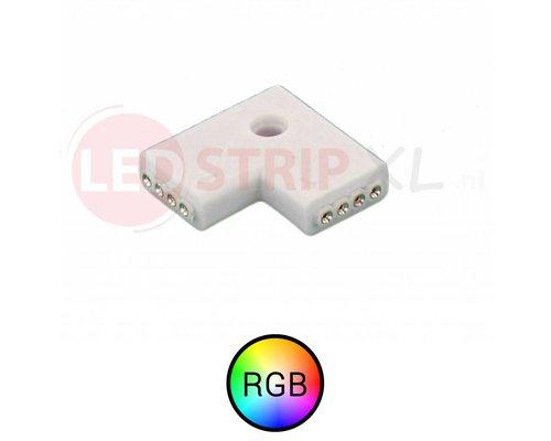 Hoek koppelstuk 90 graden voor RGB LED strips