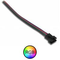 RGB Signaal koppelstuk 'klem' 4 aderig naar vrouw aansluiting