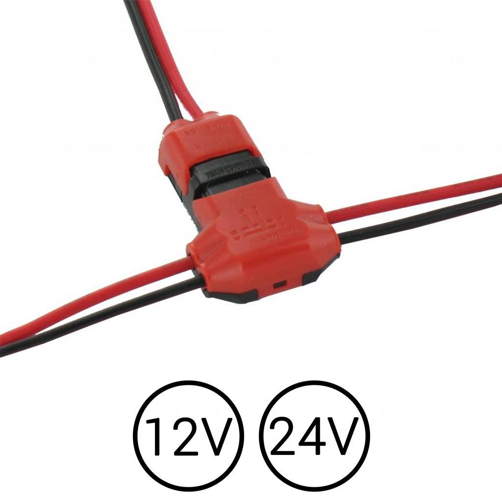 kabel klem 2 voudig splitsen trap trede verlichting ledstripxl. Black Bedroom Furniture Sets. Home Design Ideas