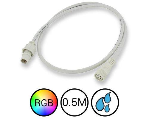 RGB Verlengkabel 50cm Waterdicht voor Aquarium LED Strips