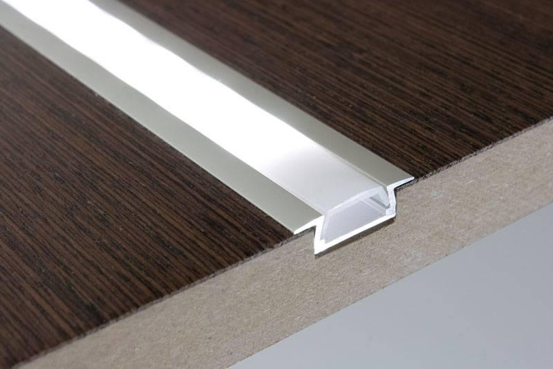 klu design aluminium inbouw profiel 1 meter 6mm hoog