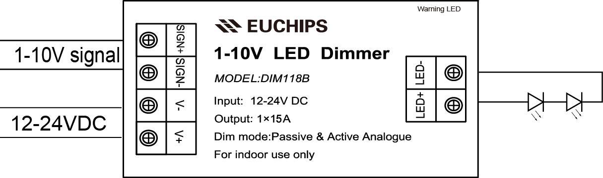 Aansluitschema 1-10V dimmer