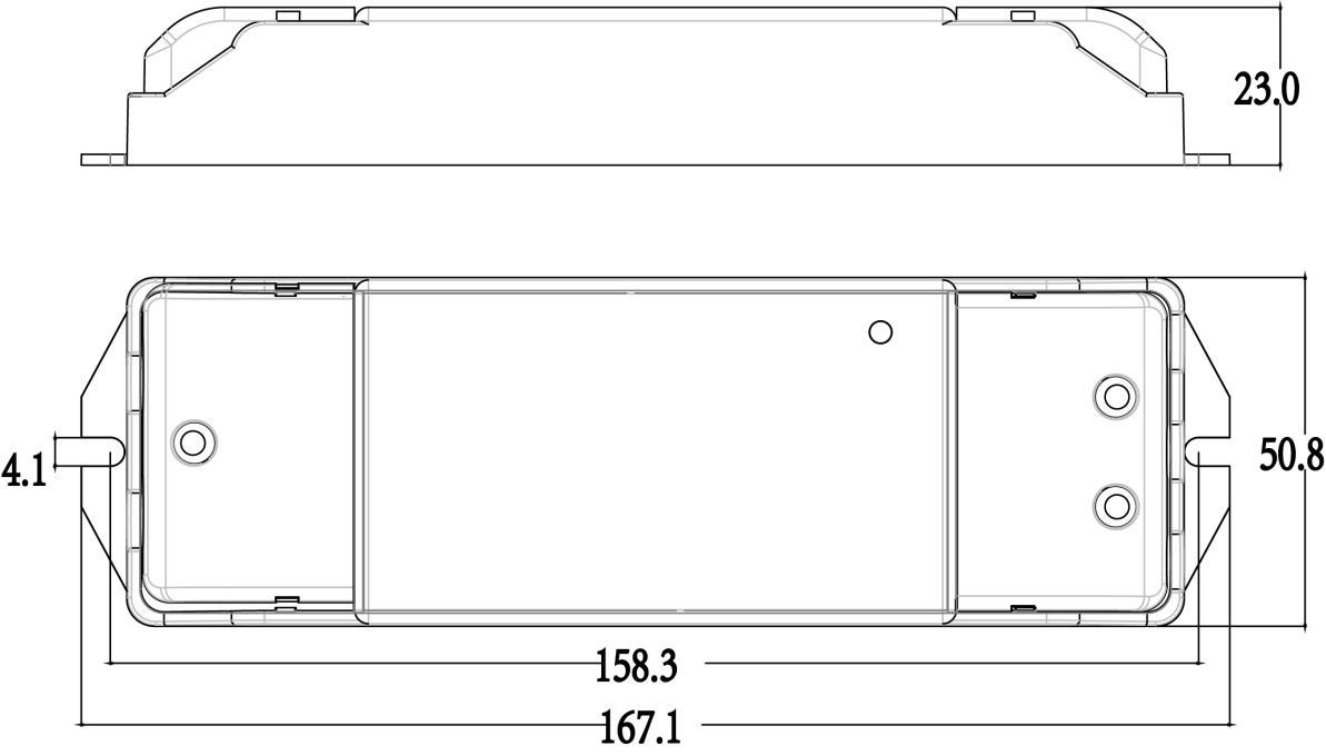 Afmetingen dual white dimmer 1-10V