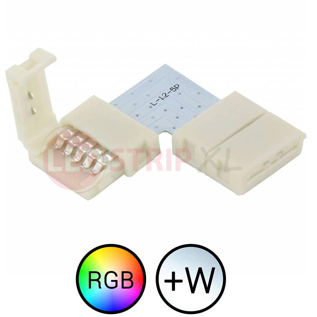 RGBW LED Strip klik koppelstuk voor hoeken