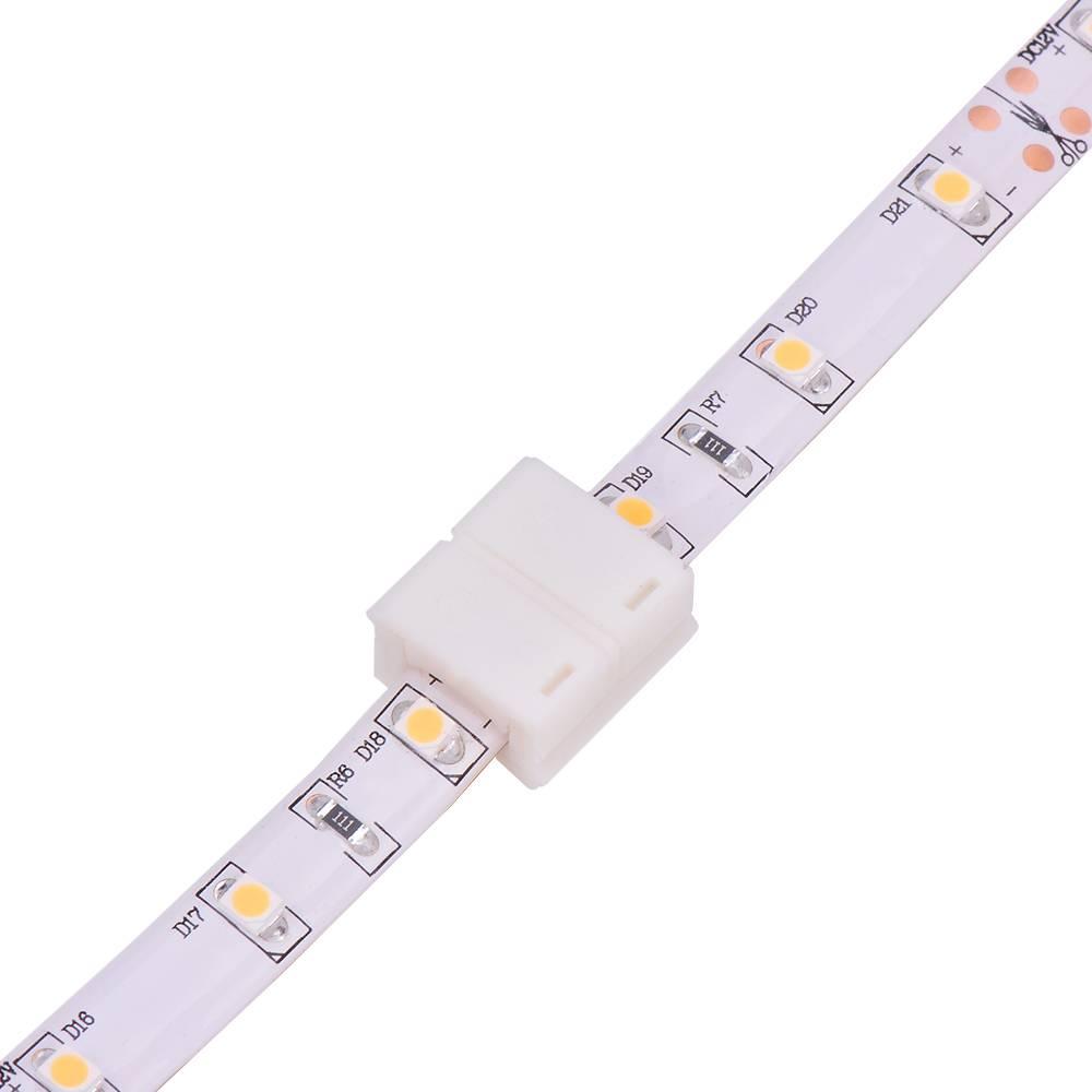 led strip connector koppelstuk 2 aderig draadloos ledstripxl. Black Bedroom Furniture Sets. Home Design Ideas
