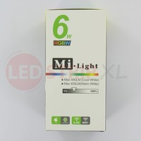 Milight RGBW LED Lamp E27 6 Watt Kleur + Warm Wit