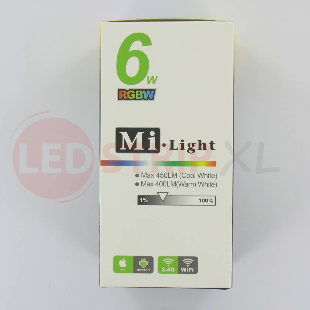Rgbw led lamp e27 6watt kleur warm wit - Kleur warm ...