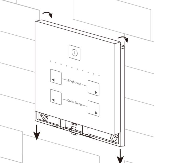 Dual White 0-10V touch paneel installatie 3