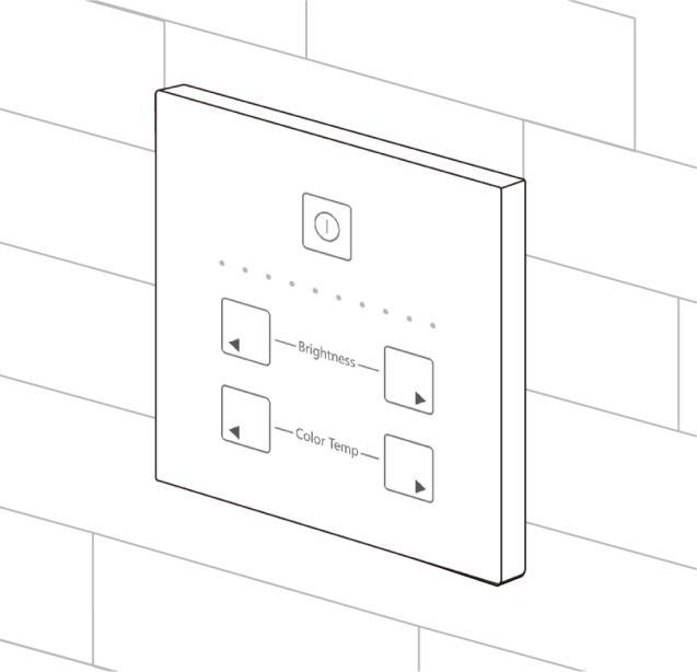 Dual White 0-10V touch paneel installatie 4