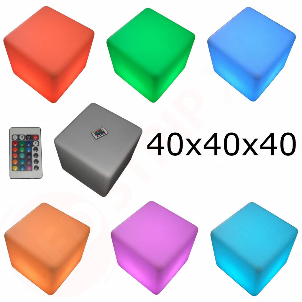 LED Kubus met RGB Kleuren en Afstandsbediening