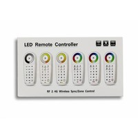 LTECH 2.4G LED Draadloze Single Color 8-zone Afstandsbediening