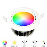 Milight LED RGBW downlight 12W met driver RGB + Warm Wit