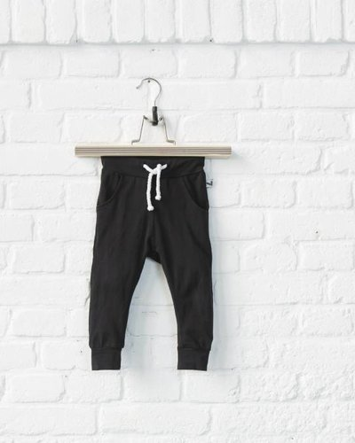 Lucky No. 7 Little Black Baggy Pants