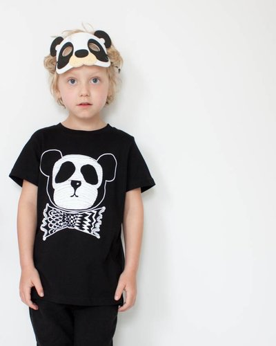 MAIKO MINI Panda dude t-shirt zwart