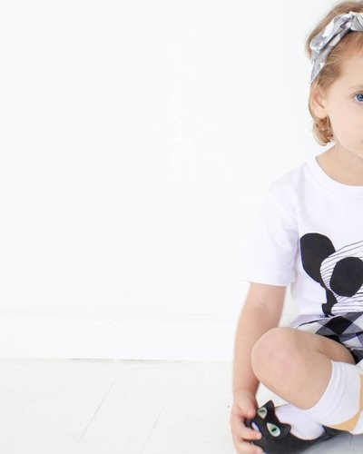 MAIKO MINI Panda dude t-shirt wit