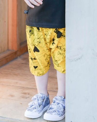 Freddy Bib Allover Shorts Yellow